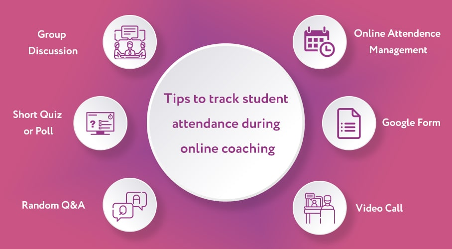 filler image with text as tips to take online attendance during pandemic