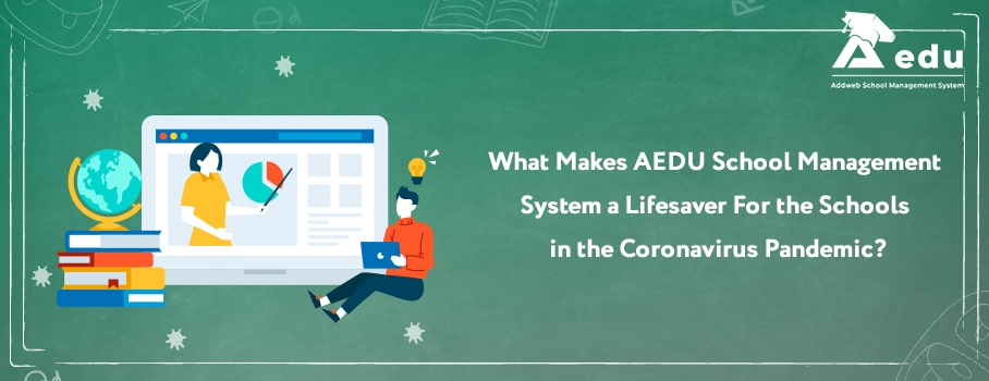 Image with text what makes aedu school erp best- Aedu